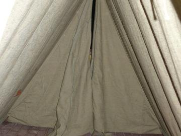 Verkaufen mit Widerrufsrecht (Gewerblicher Anbieter): A Zelt aus 100% wasserfest Imprägtnierten Leinen