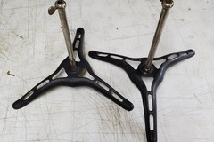 Selling with online payment: 2 Ludwig and Ludwig cymbal stand bases 1920?