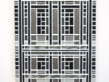 Selling with online payment: Thread Wrapped Black and White Art Deco Tile