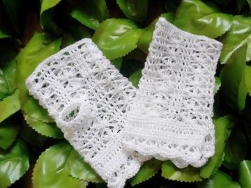 Sale retail: Mitaines dentelle femme en coton au crochet