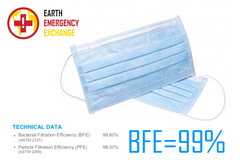 Emergency-Aid Supply Offers: Medical Surgical Mask EN 14683 IIR BFE=99%  (1 million pcs CIF)