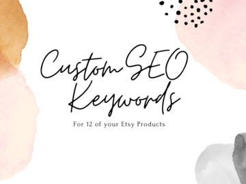 Offering online services: Custom SEO Tags for 12 of your Product Listings