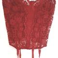 Ilmoitus: Punainen pitsikorsetti
