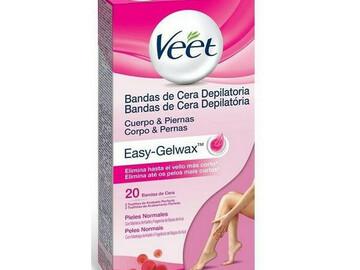 Venta: Bandas cera Veet. Easy-Gelwax