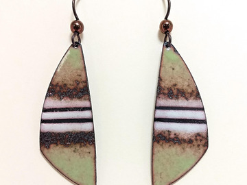 Selling with online payment: Enameled Copper Earrings