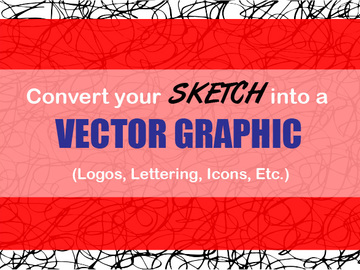 Offering online services: Convert Your Sketch into a Vector Graphic for Your Shop