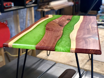 Selling with online payment: Red Cedar Epoxy River Coffee Table
