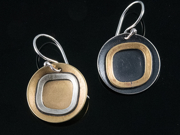 "Selling with online payment: ""Yin Yang"" MisMatched Dangle Earrings"