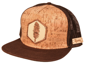 Selling with online payment: Doug Fir Wood Inlay + Cork Trucker Cap