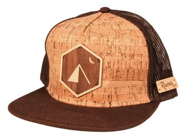 Selling with online payment: Camp Wood Inlay + Cork Trucker Cap