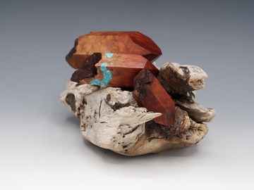 Selling with online payment: Magnetic Mineral Sculpture:  Quartz - Manzanita & Turquoise