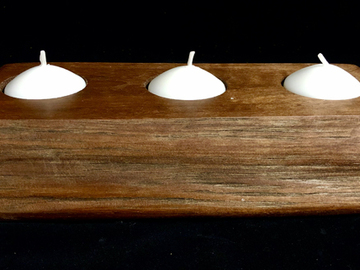 Selling with online payment: Live Edge Black Walnut Candle Holder