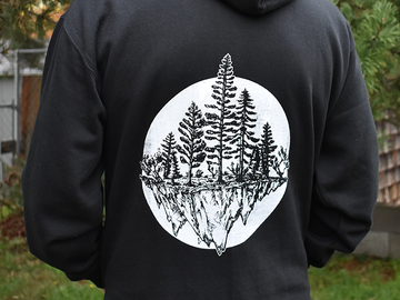 Selling with online payment: PNW Trees Unisex Hoodie Black