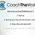 Website Announcement: How to be on CoachTheWorld?