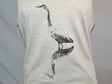 Selling with online payment: Heron,  Great Blue Heron, Bird, Nature, Animals, Tank Top
