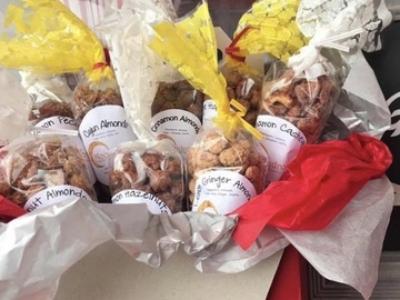 Selling with online payment: Bavarian Roasted Lemon Ginger Almonds (large)