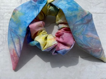 Selling with online payment: Tie Dye Scrunchie with Bow