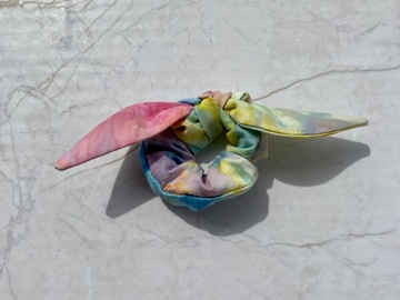Selling with online payment: Tie Dye Mini Scrunchie with Bow
