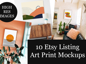 Offering online services: 10 Art Print Mock Up Photos