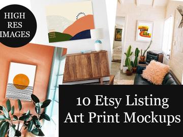 Offering online services: 10 Art Print Mock Up Photos