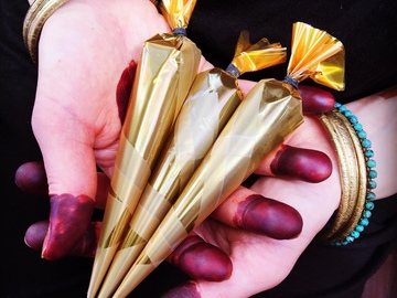 Selling with online payment: 100% Natural Henna Cone for DIY Body Art