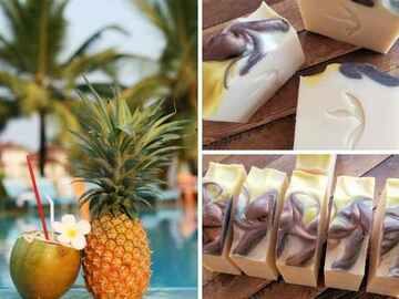 Selling with online payment: Coconut Water and Pineapple Coconut Milk Soap