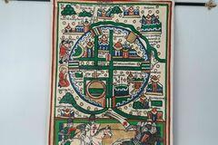 Verkaufen: Carte des croisés de Jérusalem,entièrement doublé medievale