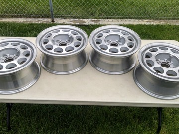 Selling without online payment: NOS Fox body Mustang 10 Hole Wheels