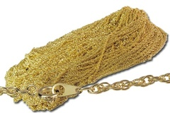"""Buy Now: 50 pcs Gold Plate 2mm Rope chain necklace, 21"""" $1.99 pcs"""