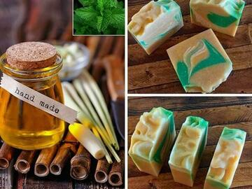 Selling with online payment: Lemongrass and Mint Coconut Milk Soap