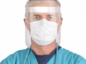 Sell your product: Plastic Face Shield - Made Of Food Grade Clear Plastic