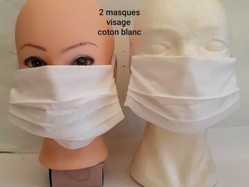 Buy my stock - Lots sales: Masque visage,, protection, BLANC, avec poche filtre, protecteur