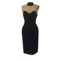 For Rent: ALEXANDER MCQUEEN: Black & Beige Sheath dress| EU42