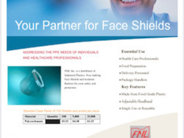 Sell your product: Face Shield Polycarbonate