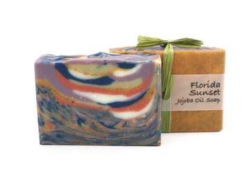Selling with online payment: Florida Sunset Jojoba Oil Soap--face & body wash