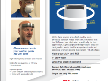 Sell your product: High-Quality, High-Volume Disposable Face Shields