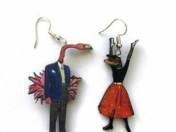 Selling with online payment: Florida Earrings - Alligator and Flamingo