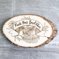 Selling with online payment: F*ck Your Bad Vibes Wood Burned Sign