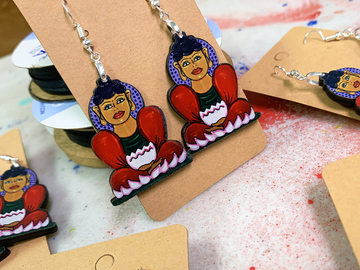 Selling with online payment: Boho Buddha Earrings