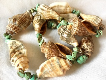 Selling with online payment: Turquoise Shell Necklace Beach Mermaid