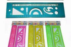 "Buy Now: ""My School"" Drawing Ruler & Stencil (2-Piece) Set"