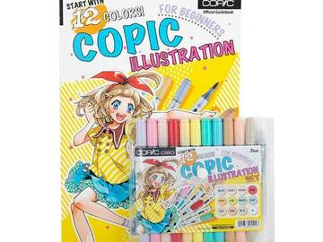 Verkaufen mit Online-Zahlungen: 12 Colors Copic Illustration For Beginners Set