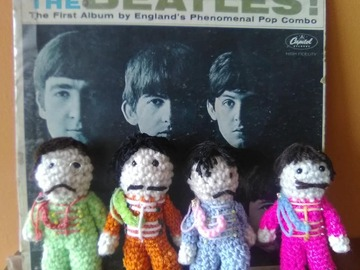 Selling with online payment: Beatles Sgt Pepper Crocheted Dolls