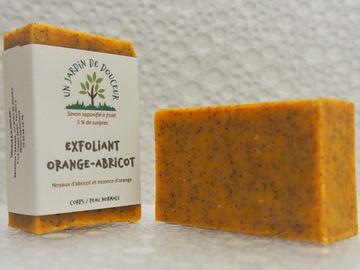 Vente avec paiement en direct: Savon exfoliant orange-abricot