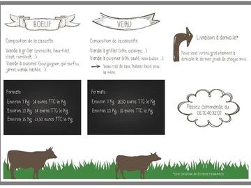Vente avec paiement en direct: Caissette de bœuf ou veau