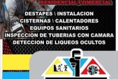 Servicios: Destapes y mantenimiento de A/C
