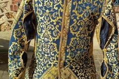 Verkaufen: Pourpoint manches à crevées, bleu et doré