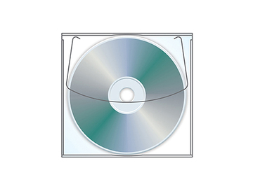Sell your product: Adhesive backed CD / DVD holder