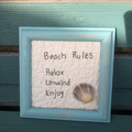 Selling with online payment: Hand done stitchery - Beach Rules