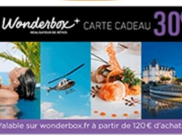 Vente: Bon de réduction Wonderbox (30€)